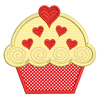Cupcake applique machine embroidery design by embroiderytree.com