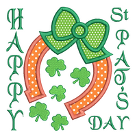St Pat's Horseshoe applique machine embroidery design by sweetstitchdesign.com