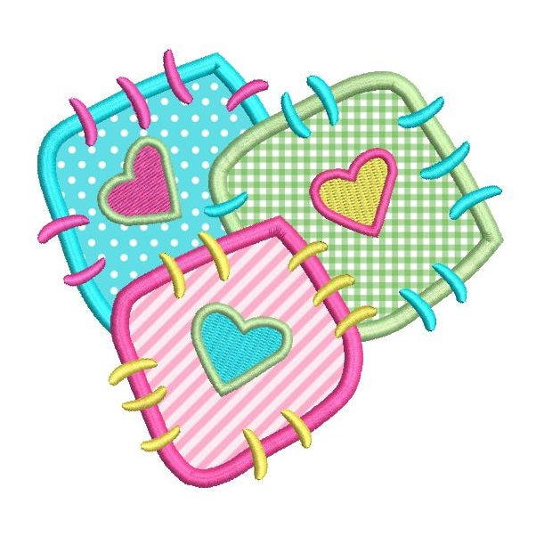 Patch applique machine embroidery design by sweetstitchdesign.com