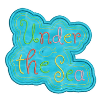 Under the sea applique machine embroidery design by sweetstitchdesign.com