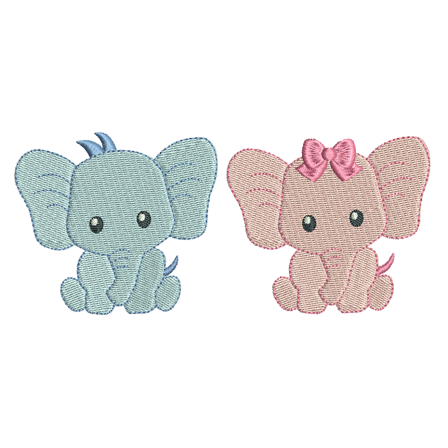 Baby elephant mini fill stitch machine embroidery designs by sweetstitchdesign.com