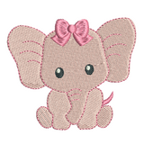 Mini baby elephant machine embroidery design by sweetstitchdesign.com