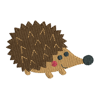 Mini fill stitch hedgehog machine embroidery design by sweetstitchdesign.com