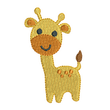 Mini fill stitch giraffe machine embroidery design by sweetstitchdesign.com