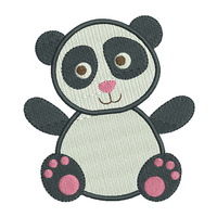 Mini fill stitch panda machine embroidery design by sweetstitchdesign.com