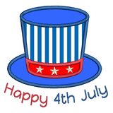 4th July hat applique machine embroidery design by sweetstitchdesign.com