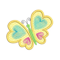 Butterfly applique machine embroidery design by sweetstitchdesign.com