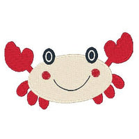 Cute crab machine embroidery design by sweetstitchdesign.com