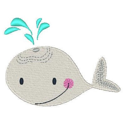 Whale machine embroidery design by sweetstitchdesign.com