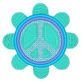 Peace sign machine embroidery design by sweetstitchdesign.com
