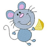 Cute mouse machine embroidery design by sweetstitchdesign.com