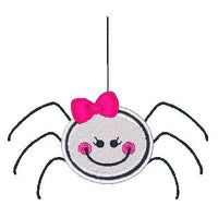 Halloween spider machine embroidery design by sweetstitchdesign.com