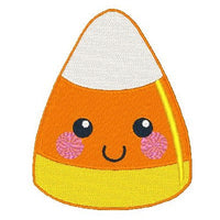 Halloween Kawaii candy corn machine embroidery design by embroiderytree.com