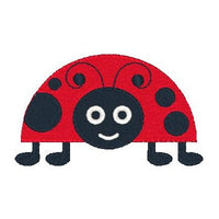Ladybug machine embroidery design by sweetstitchdesign.com