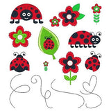 Ladybugs Set of machine embroidery designs by sweetstitchdesign.com