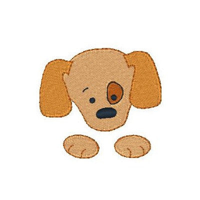 Pocket puppy machine embroidery design by sweetstitchdesign.com