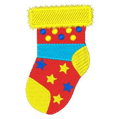 Christmas stocking machine embroidery design by sweetstitchdesign.com
