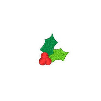 Christmas holly fill stitch machine embroidery design by sweetstitchdesign.com