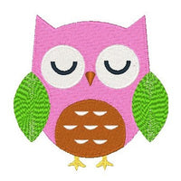 Cute owl machine embroidery design by sweetstitchdesign.com