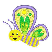 Butterfly machine embroidery design by sweetstitchdesign.com
