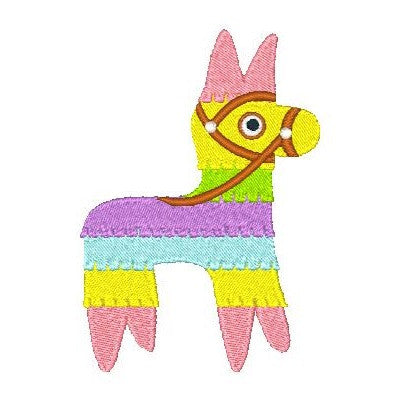 Mexican Pinata donkey machine embroidery design by sweetstitchdesign.com