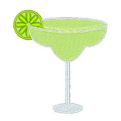Margarita cocktail machine embroidery design by sweetstitchdesign.com
