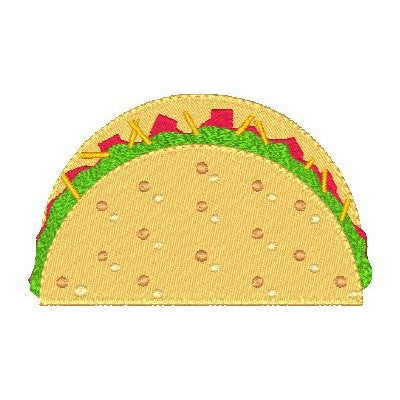 Mexican Taco machine embroidery design by sweetstitchdesign.com