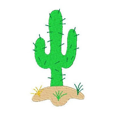 Cactus machine embroidery design by sweetstitchdesign.com