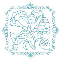 Les fleurs belle biazze quilt block by sweetstitchdesign.com
