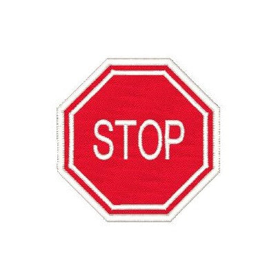 Stop sign applique machine embroidery design by sweetstitchdesign.com
