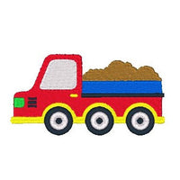 Tipper truck machine embroidery design by sweetstitchdesign.com
