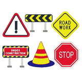 Construction road signs machine embroidery designs by sweetstitchdesign.com