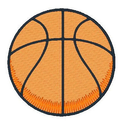 Basketball machine embroidery design by sweetstitchdesign.com