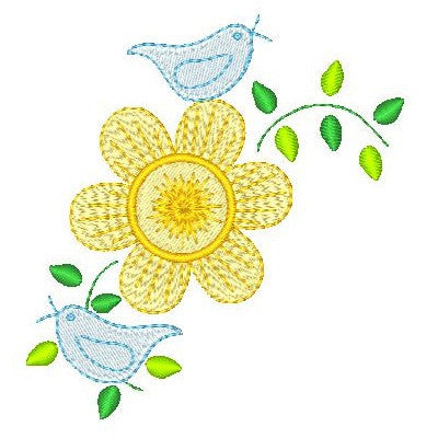 Floral corner machine embroidery design by sweetstitchdesign.com