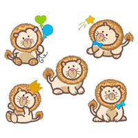 Sweet little lions applique machine embroidery designs by sweetstitchdesign.com