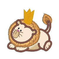 Sweet little lion applique machine embroidery design by sweetstitchdesign.com
