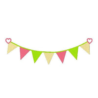 Bunting machine embroidery design by sweetstitchdesign.com