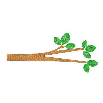 Tree branch machine embroidery design by sweetstitchdesign.com