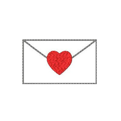 Love letter machine embroidery design by sweetstitchdesign.com