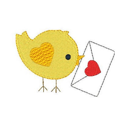 Love bird machine embroidery design by sweetstitchdesign.com