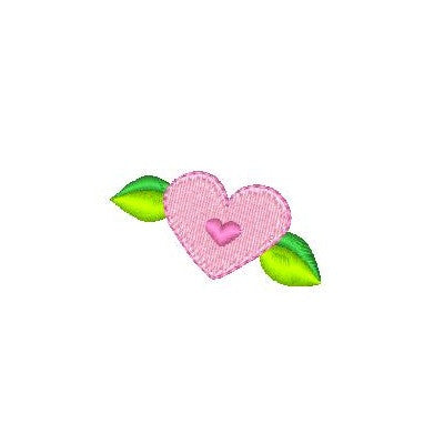 Mini fill stitch heart machine embroidery design by sweetstitchdesign.com