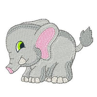 Baby elephant machine embroidery design by sweetstitchdesign.com