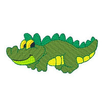Baby crocodile machine embroidery design by sweetstitchdesign.com