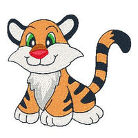 Baby tiger machine embroidery design by sweetstitchdesign.com