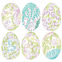 Fabulous Easter Eggs - Set of 6 machine embroidery designs by sweetstitchdesign.com