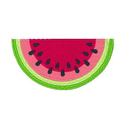 Watermelon Machine Embroidery Design by sweetstitchdesign.com