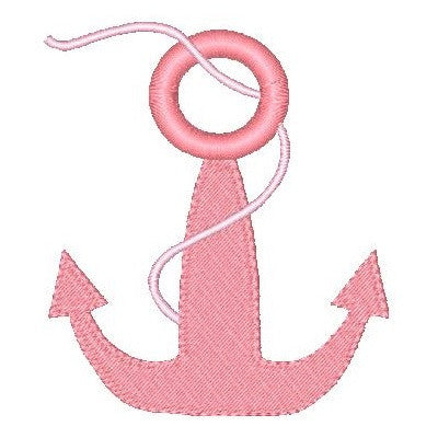 Ship's anchor machine embroidery design by sweetstitchdesign.com