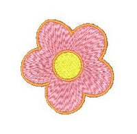 Mini flower machine embroidery design by sweetstitchdesign.com