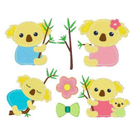 Koala machine embroidery designs by sweetstitchdesign.com
