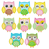 Baby owl applique machine embroidery designs by sweetstitchdesign.com